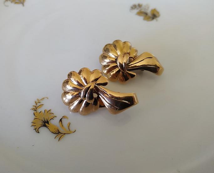 עגילי פרח זהב
