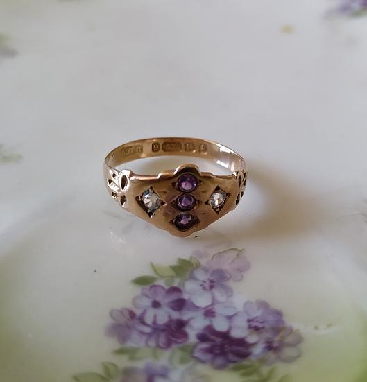 טבעת זהב ויקטוריאנית