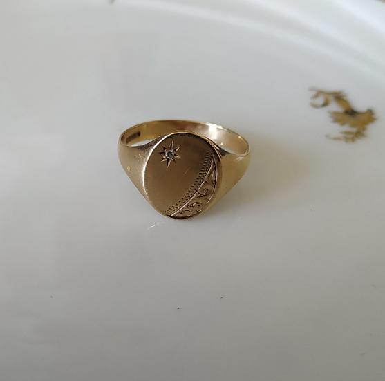 טבעת זהב לגבר ודיאמנט
