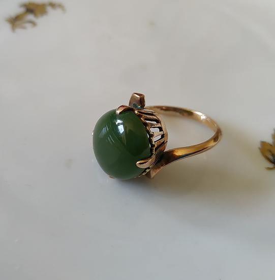 טבעת זהב וכרום קלצדוני מלוכסנת