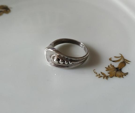 טבעת כסף 4 נקודות