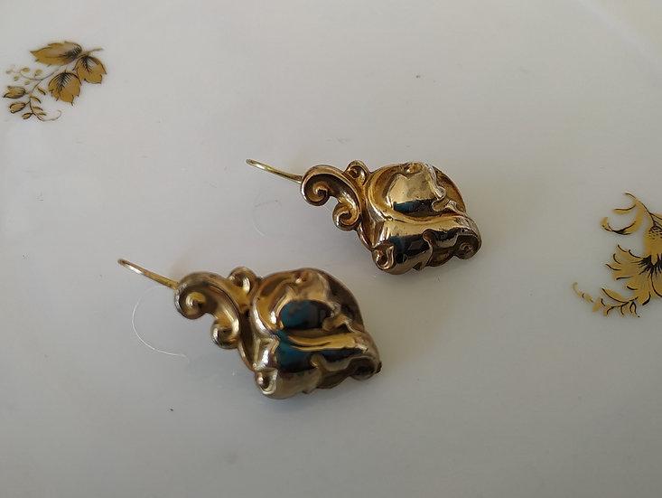 עגילי זהב ויקטוריאנים