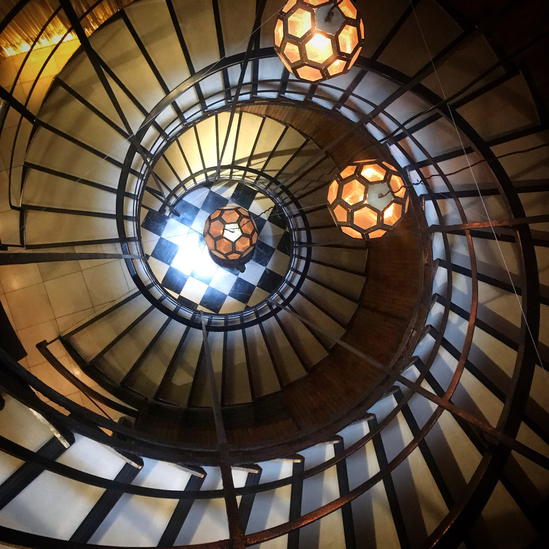 Spiral Stairs at Cotton House Hotel - Ba