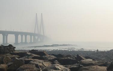 Bandra-Worli Sea Link Bridge through the