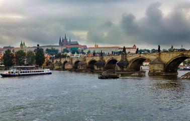 Stormy Skies at Charles Bridge Prague, C
