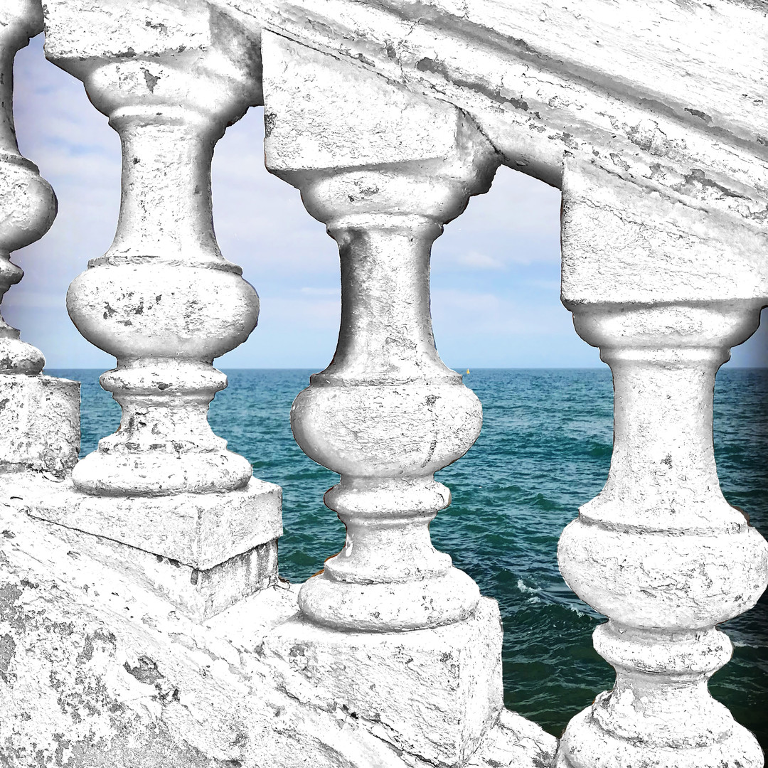 Stone Railing Detail 1 - Sitges Spain -
