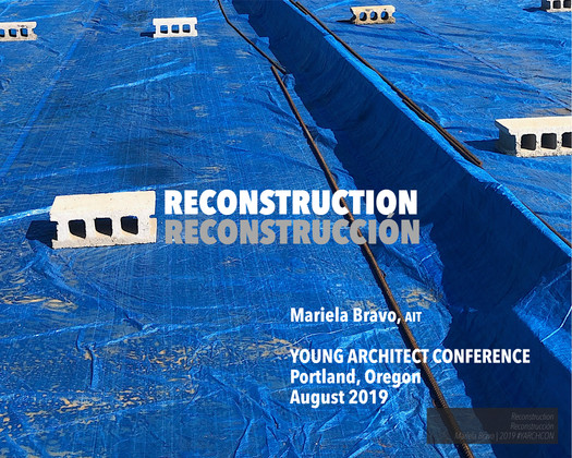 Reconstruction - Young Architect Conference 2019