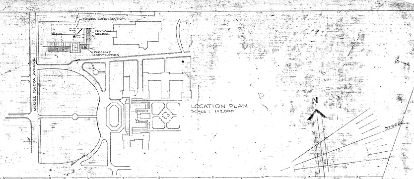 Site Plan for the Museum of History, Anthropology and Art; Arch. Henry Klumb 1958; image from AACUPR