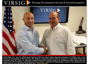 PHOTO: Two of the co-founders of VIRSIG, Brian Valenza (CEO) and Glenn Taylor (Executive Director)