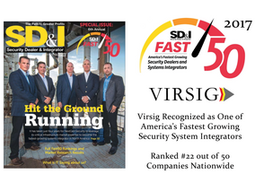 VIRSIG Recognized as One of America's Fastest Growing Security System Integrators