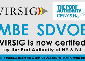 VIRSIG Has Been Certified as a MBE / SDVOB by the Port Authority of NY&NJ