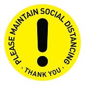 Social Distancing Button Badges Template