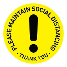 Social Distancing Button Badges Template