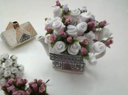 souvenirs blanco con rosa