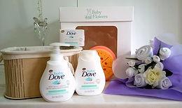 set de baño e higiene DOVE para bebés recien nacidos