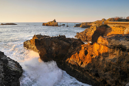 Coucher soleil Biarritz