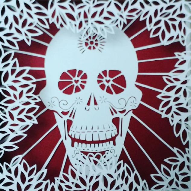 #SkullFullOfLove with leaves #Valentines