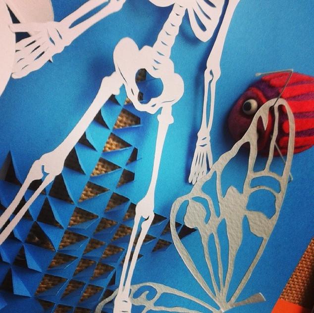 #Skeleton #Butterfly #Bug #Papercraft #H