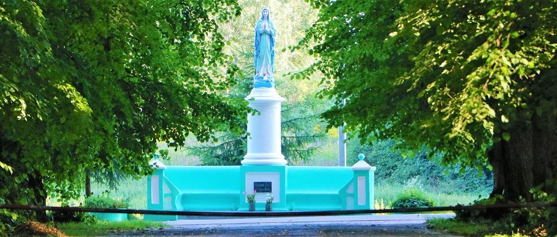 Скульптура Панны Марыі.