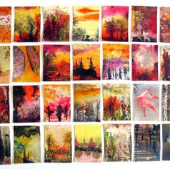36 series Countless heatless flames,ink