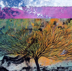 Layered tree, ink and acrylics on paper3