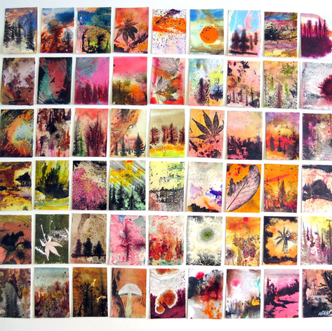 54 series Heatless Fires, ink and acryli