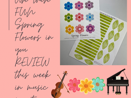 Spring Flowers - for reviewing songs