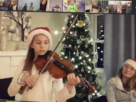 Special School Wide Christmas ZOOM Concert Series