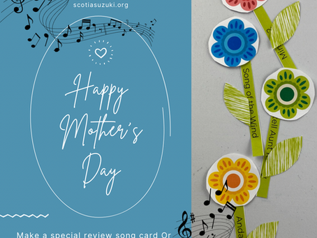 Mother's Day Flower Gift / Card