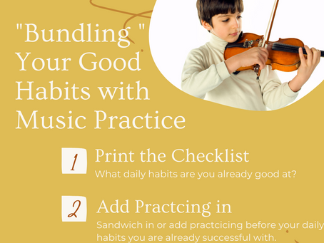 """Never Miss Practicing Daily with """"Habit Bundling"""""""