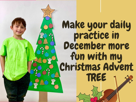Make performing a focus using my Advent Christmas tree