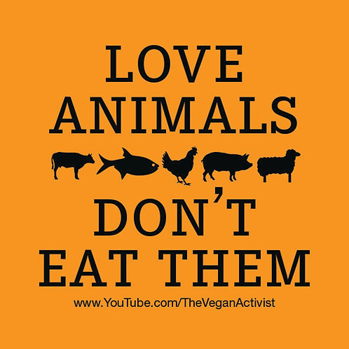 LOVE ANIMALS Vegan Stickers