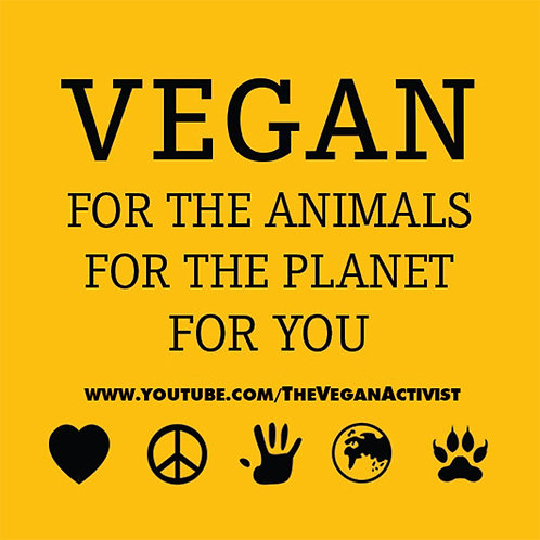 BE VEGAN Vegan Stickers