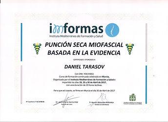 Diploma Acreditado Punción Seca
