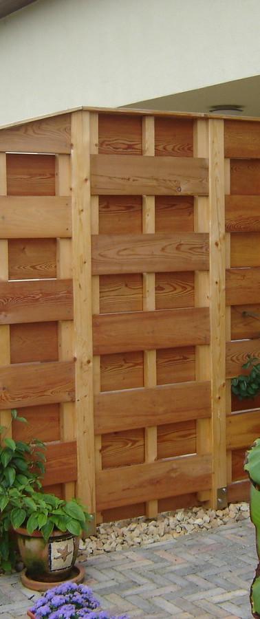 Dřevěné zástěny