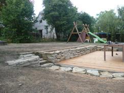 Kamenná opěrná zeď