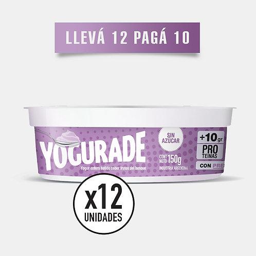 PROMO 150 FRUTOS DEL BOSQUE: Yogur + 10g Proteínas