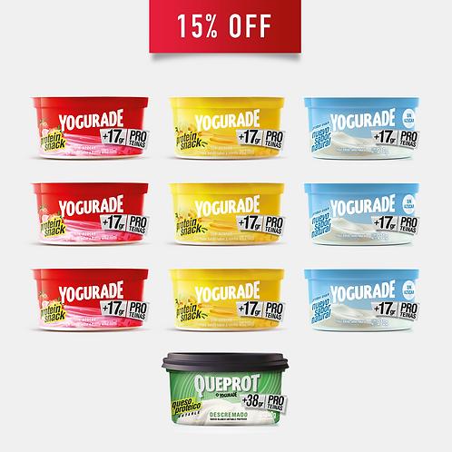 PACK 1: Potes Yogur + Queprot (10 unidades)
