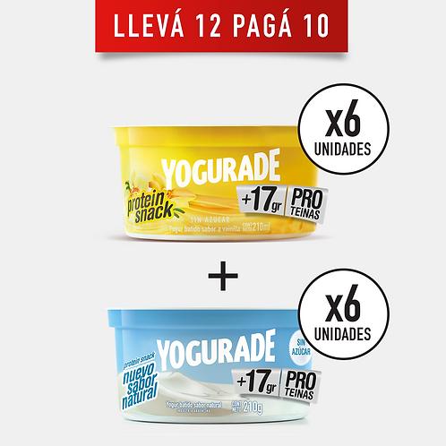 COMBINADO 1: Yogurade Cremoso +17g Proteínas Vainilla y Natural