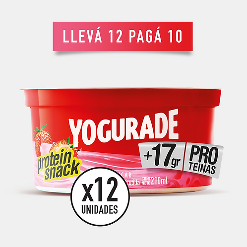 PROMO FRUTILLA: Yogurade Cremoso +17g Proteínas