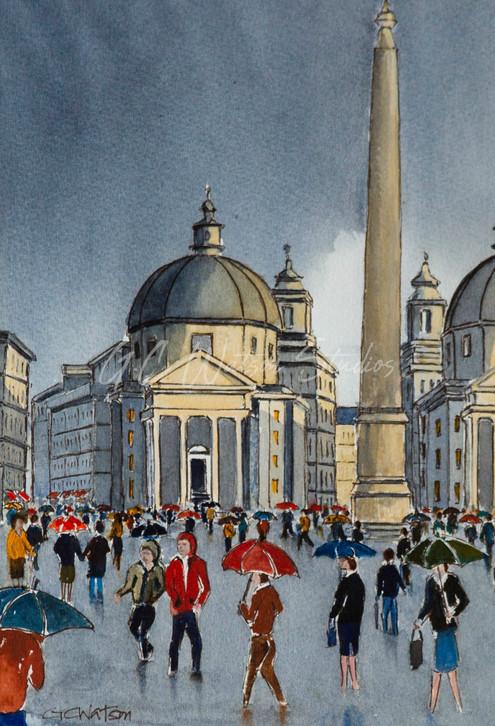 Rainy Rome