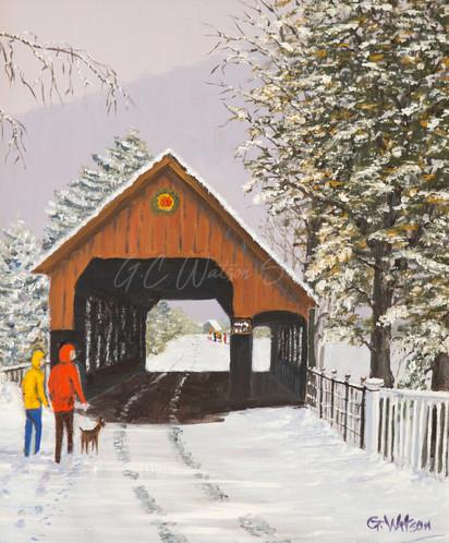 Winter in Woodstock Vermont