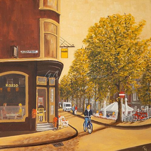 Pepperstraat in Amsterdam Original Oil Canvas Painting