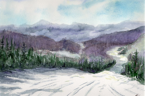 "'Skiing"" Original Painting"