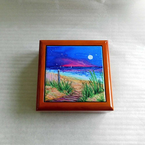 Beach Path Keepsake Box