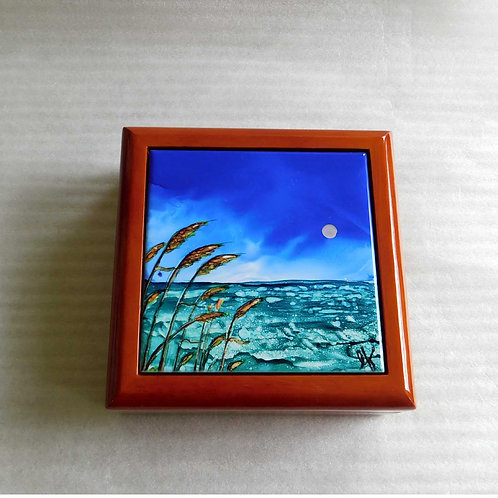 Sea Oats Keepsake Box
