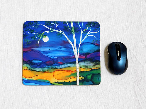 Blue  Birch Mouse Pad