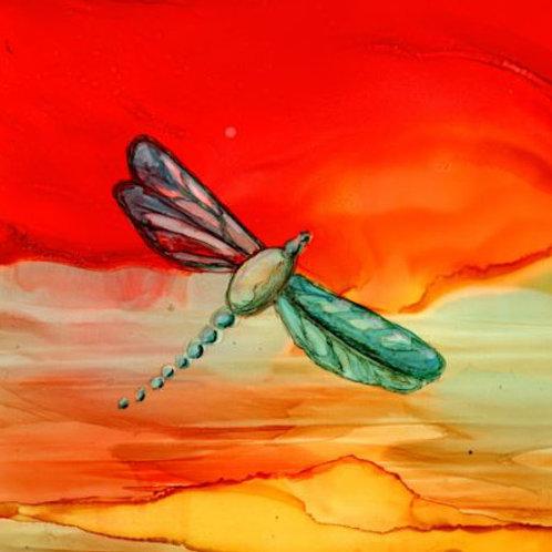 Red Dragonfly Trivet