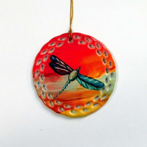 Red Dragonfly Ornament