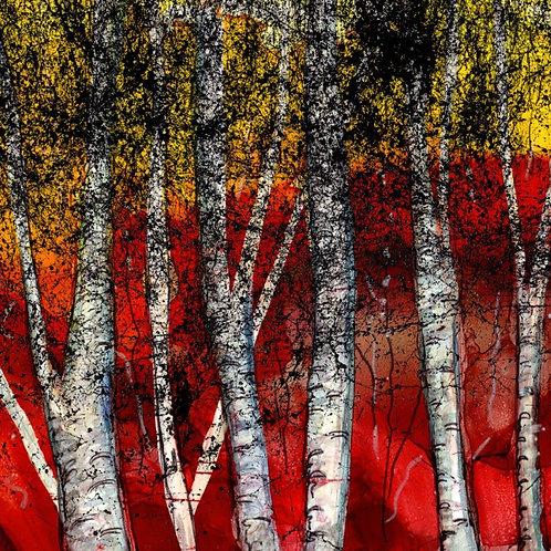Autumn Birch Trivet